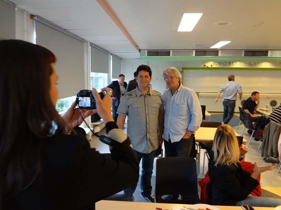 Toni Balanzà con Giuseppe Scozzi en la Reunión de la junta directiva de la FEP en Copenhague - Dinamarca