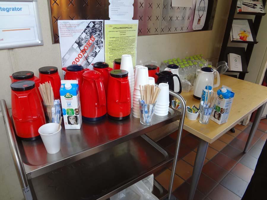 El servicio de cafetería durante el europeo en la Reunión de la junta directiva de la FEP en Copenhague - Dinamarca