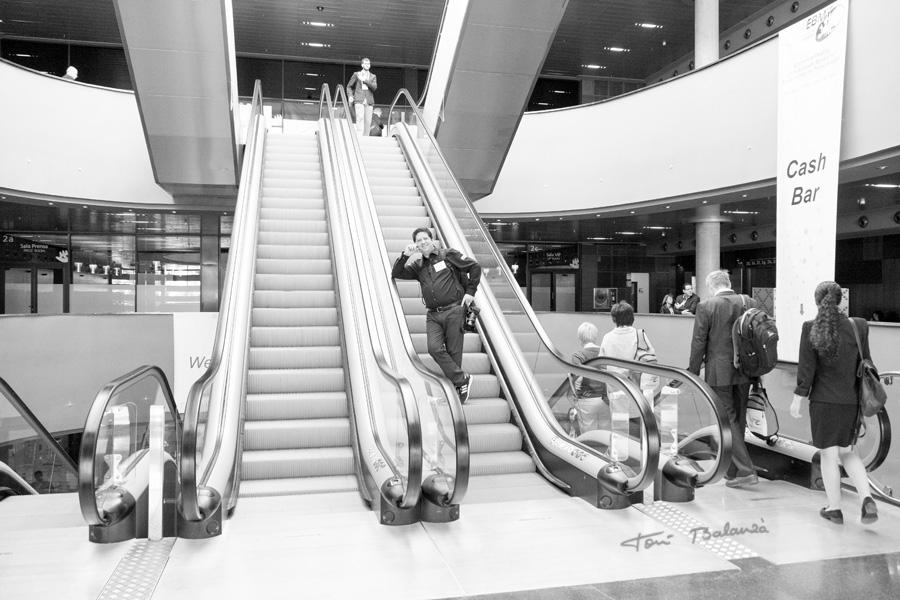 ebmt16 Valencia - Spain bajando las escaleras