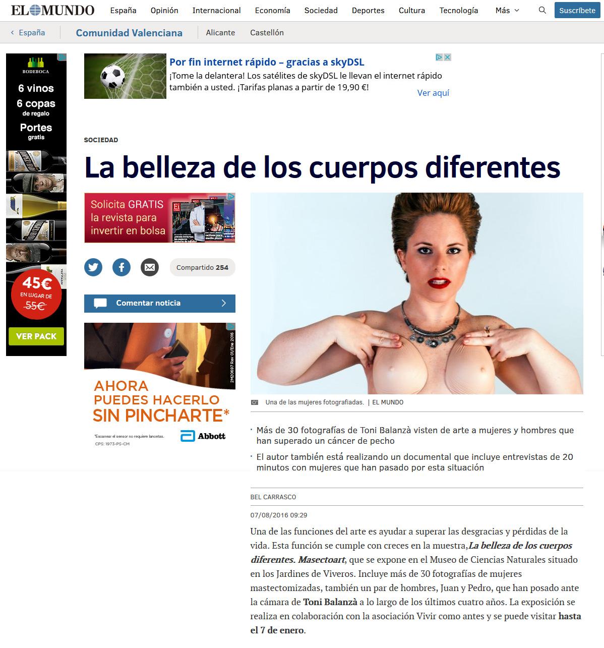 exposición mastectoart mujeres hombres mastectomizados por cáncer de mama en el mundo