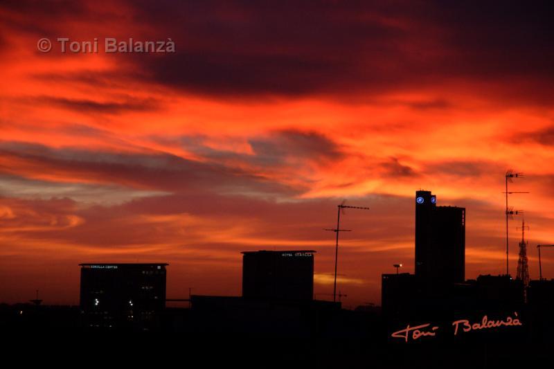 Amanece en Valencia el 23-12-2009