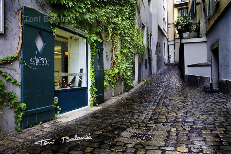 Calle de Lucerna en Suiza