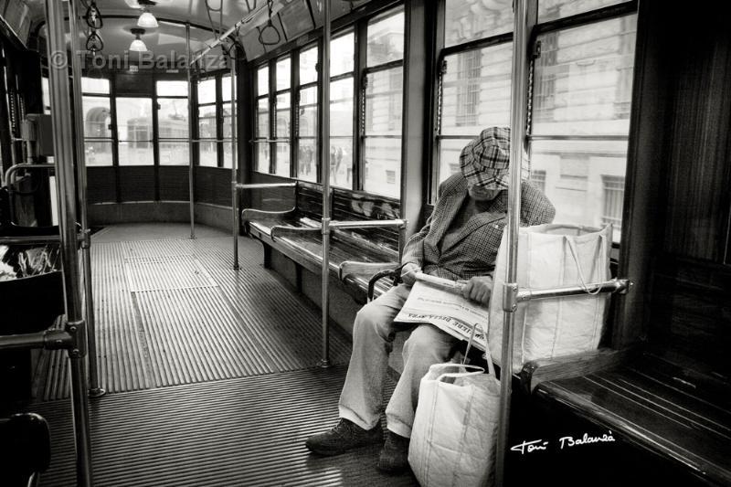 Viajero del Tranvía de Milán