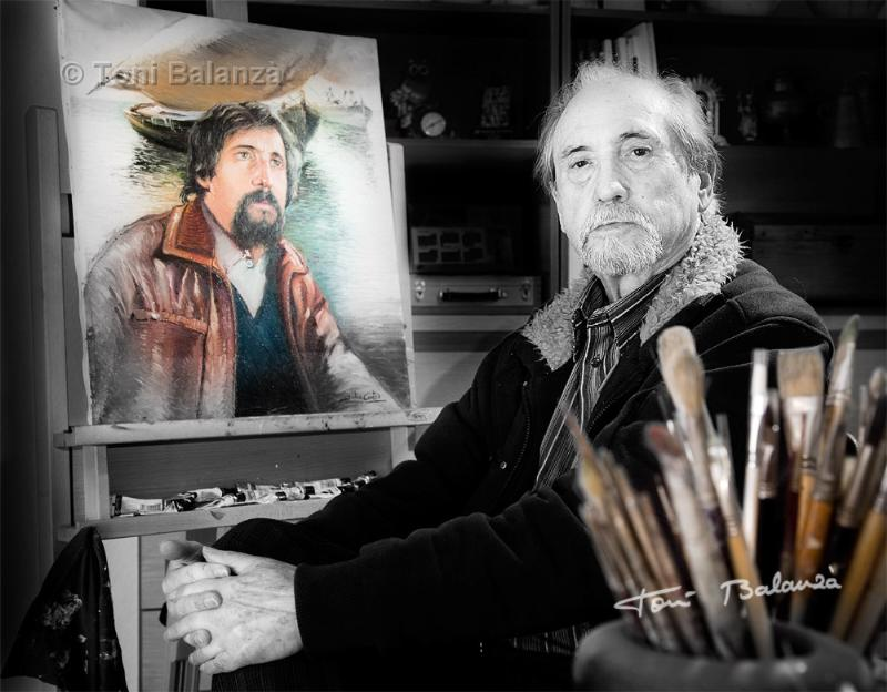 Retrato del pintor Julio Cortés por Toni Balanzà