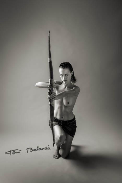 Imagen que formó parte del cartel de la exposición mujeres mastectomizadas de Ontinyent