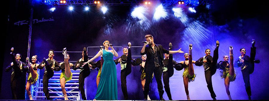 Foto panorámica espectáculo Frecuencia Musical de Sagitari Productions y Excelsior Producciones