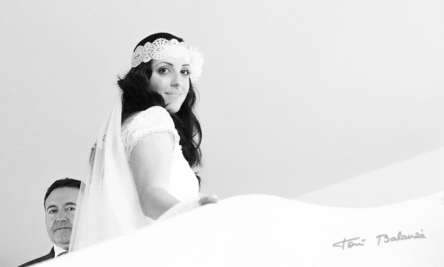 fotografía de boda la novia y el padre de la novia