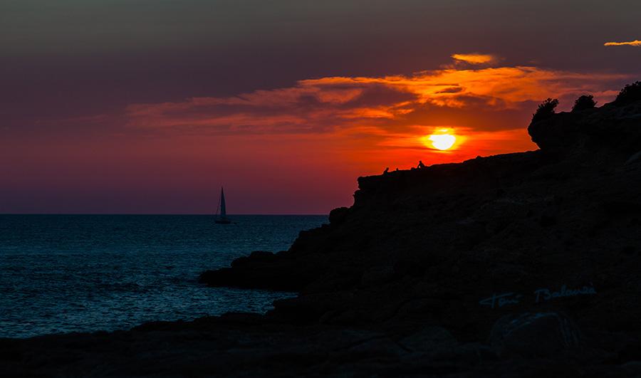 Atardecer en Sant Antoni de Portmany Ibiza