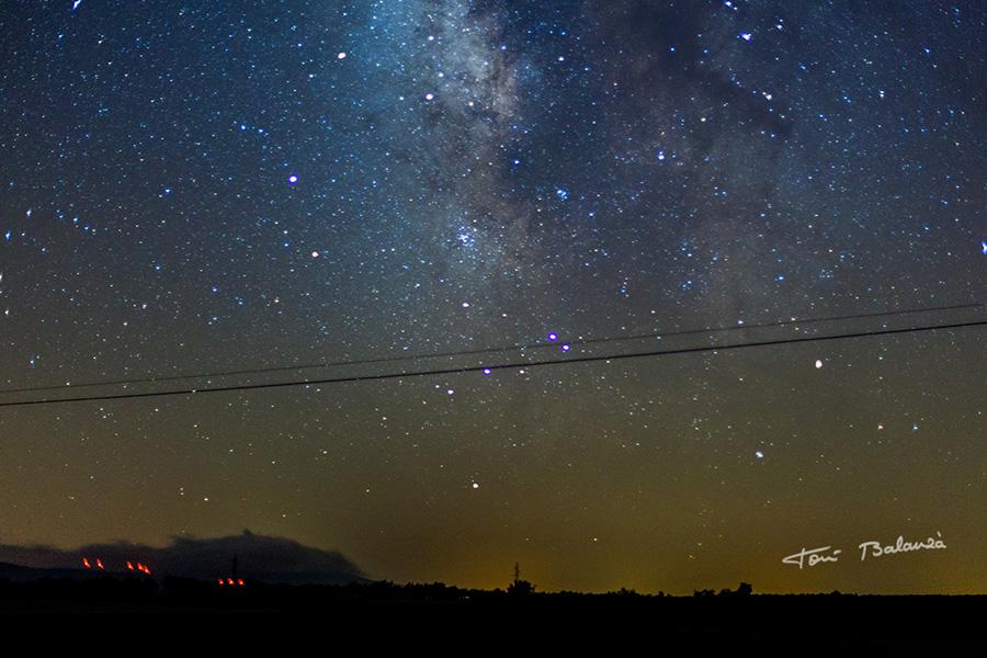 Landete Cuenca cielo estrellado Vía Lactea