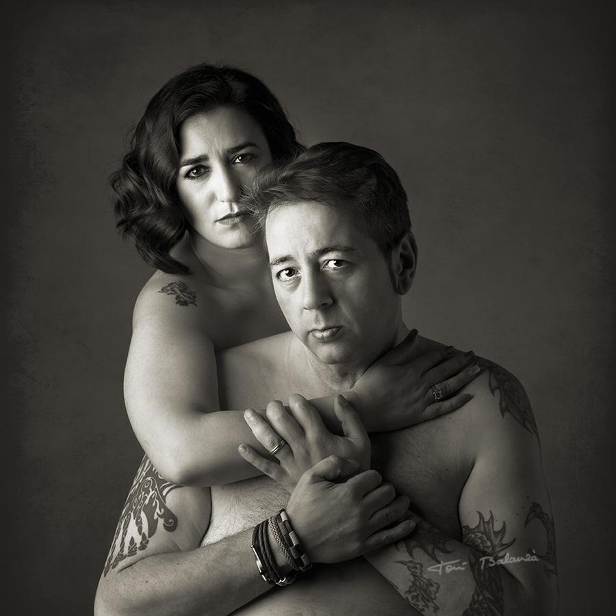 Retrato tatoo desnudo tatuajes