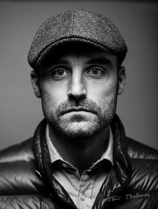 Retrato en blanco y negro por fotógrafo profesional