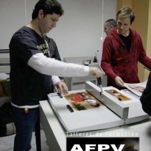 Taller de encuadernación en AFPV  - Celebrado el 25 de noviembre de 2009