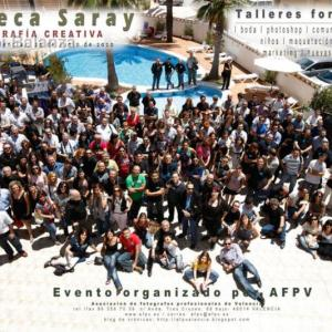 Foto de grupo Taller de Rebeca Saray - AFPV 21-06-2010 - Foto de grupo, yo en el centro con camiseta roja.