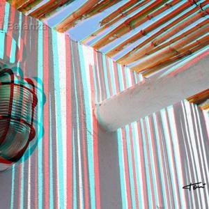 Isleta del Moro en 3D - Almería - Detalle del restaurante Isleta del Moro en 3D. Almería.