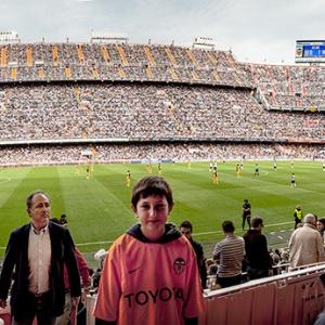 panorámica de Mestalla desde Tribuna - Panorámica realizada en el estadio de Mestalla, desde la Tribuna.